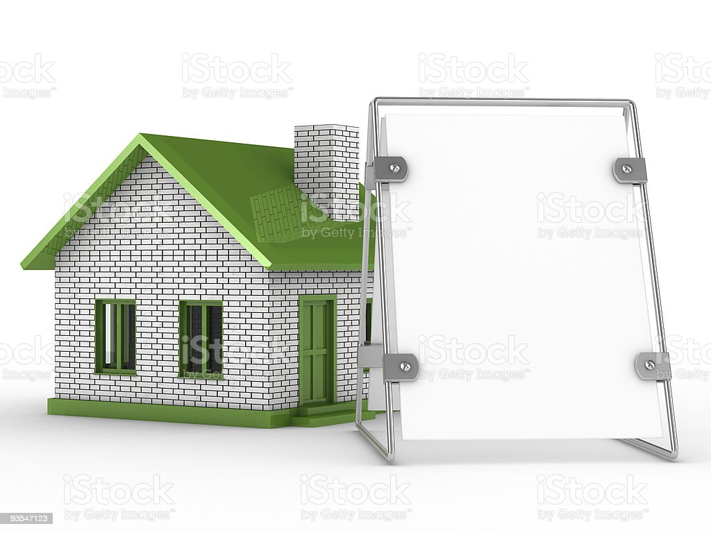 Real estate sale. Isolated 3D image on white royalty-free stock photo