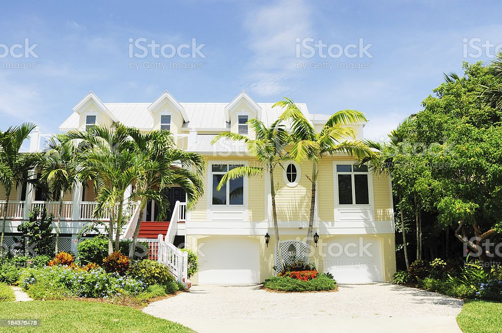 Real Estate Sanibel Island Florida Vacation Home stock photo