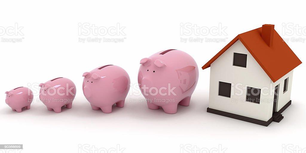 Real Estate Savings royalty-free stock photo