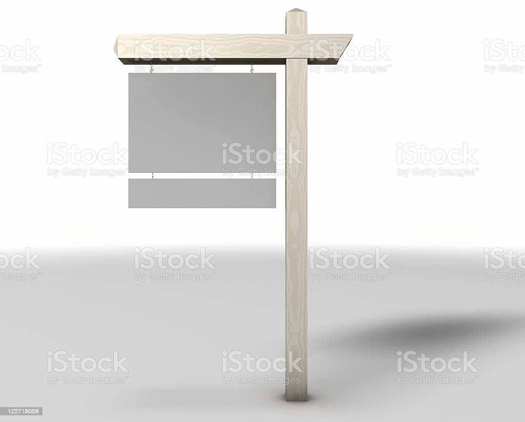 Real Estate Sign Blank royalty-free stock photo