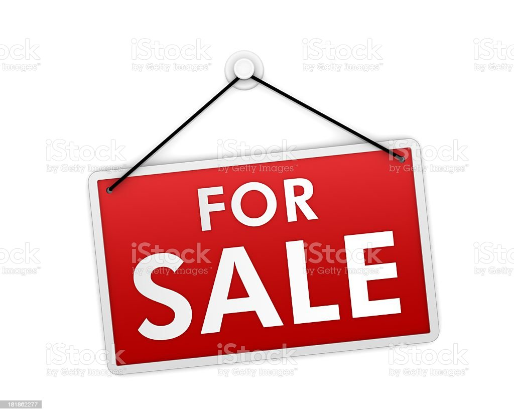Real Estate Sign – For sale stock photo