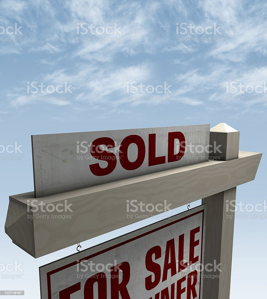 Real Estate Sign For Sale / Sold stock photo