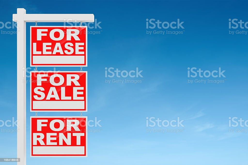 Real Estate Signs stock photo