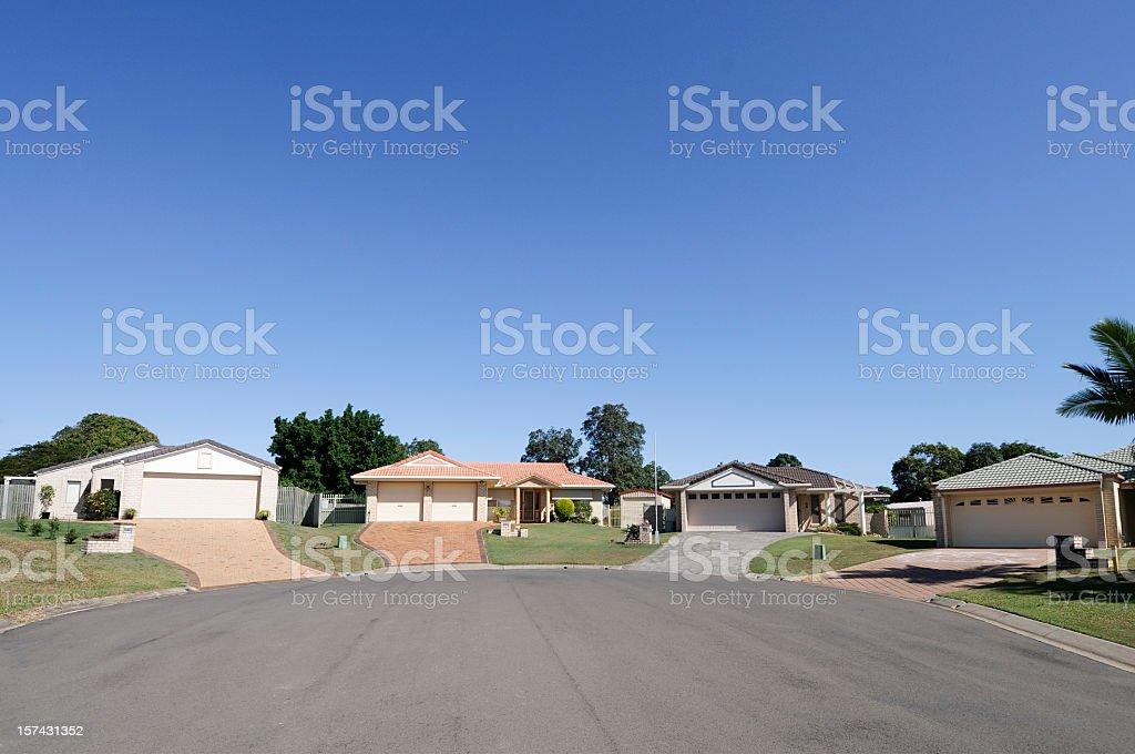 Real Estate: Suburban Cul-de-sac stock photo