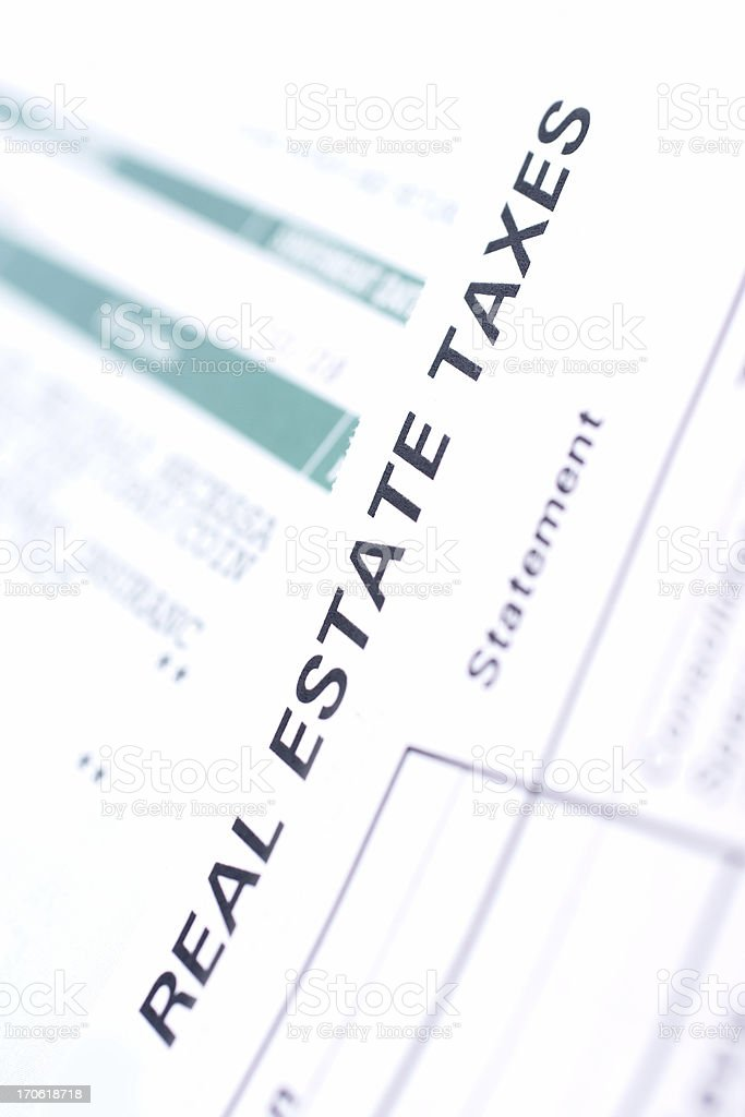 real estate taxes--backgrounds royalty-free stock photo