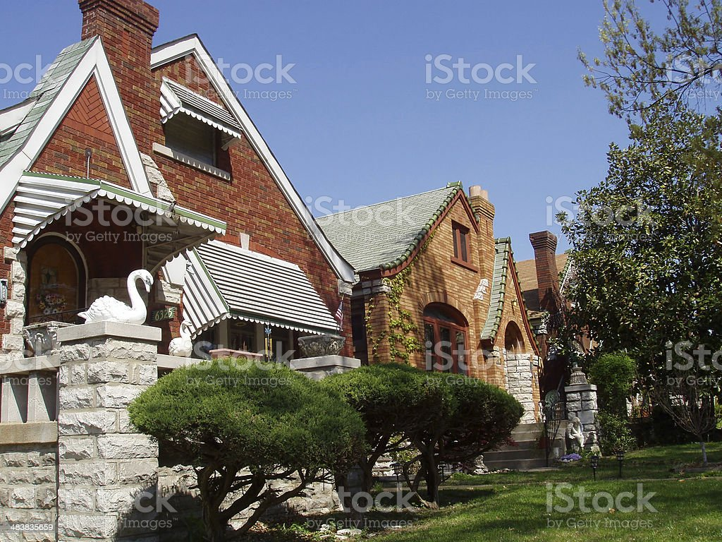 Real Estate - Urban Homes royalty-free stock photo