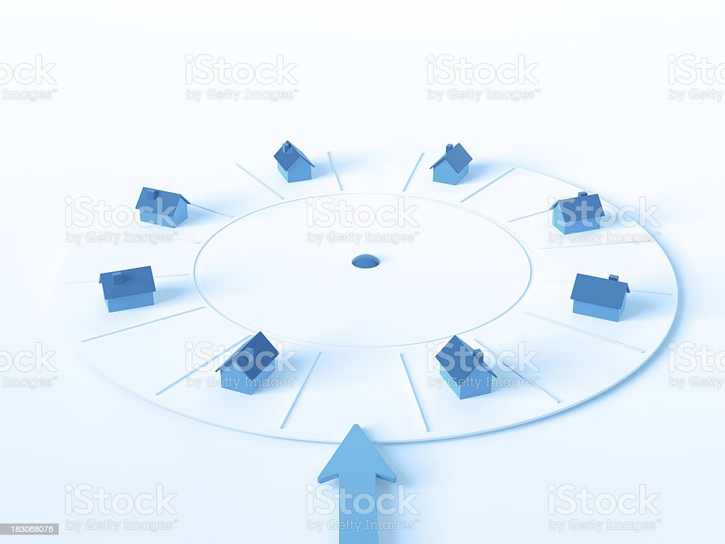 Real Estate Wheel Of Fortune Loser stock photo