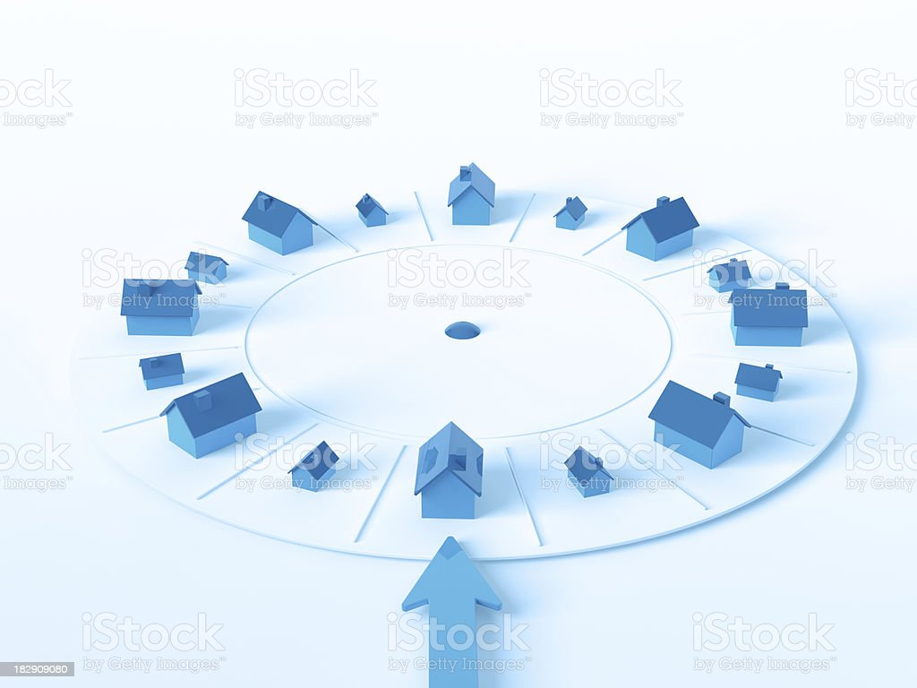 Real Estate Wheel Of Fortune Luck stock photo