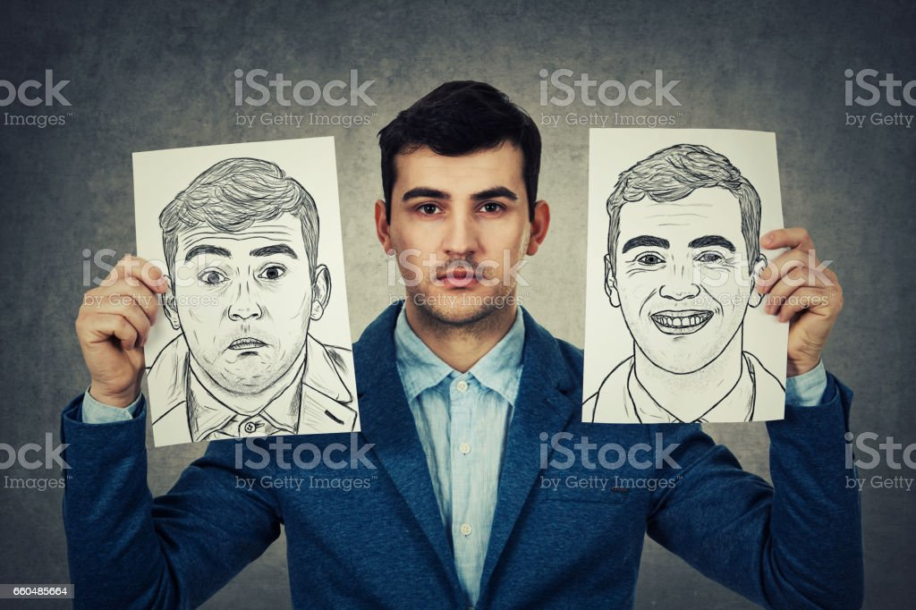 Real expression stock photo