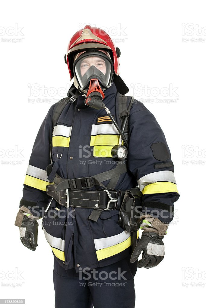 real fireman stock photo