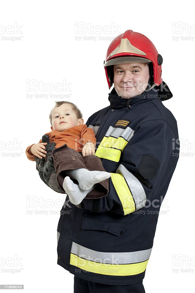 real fireman royalty-free stock photo