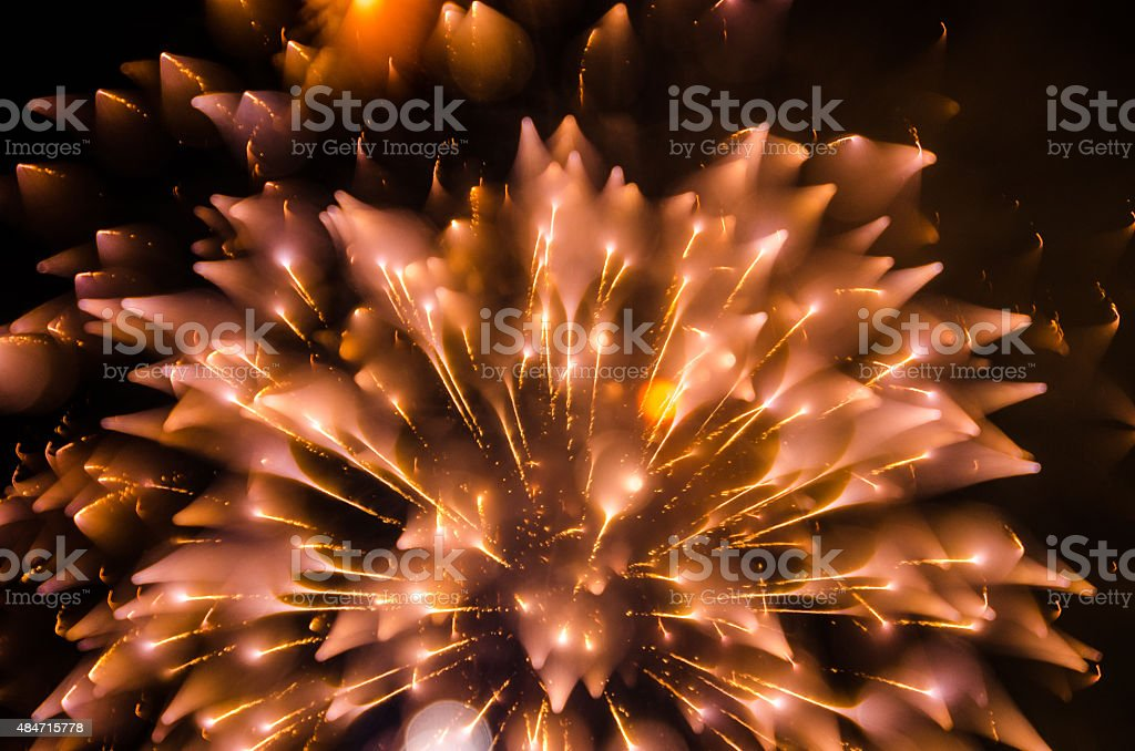 Real Fireworks - Abstract stock photo