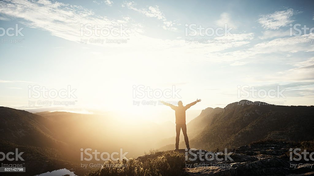 Real freedom lies in wilderness not in civilisation royalty-free stock photo