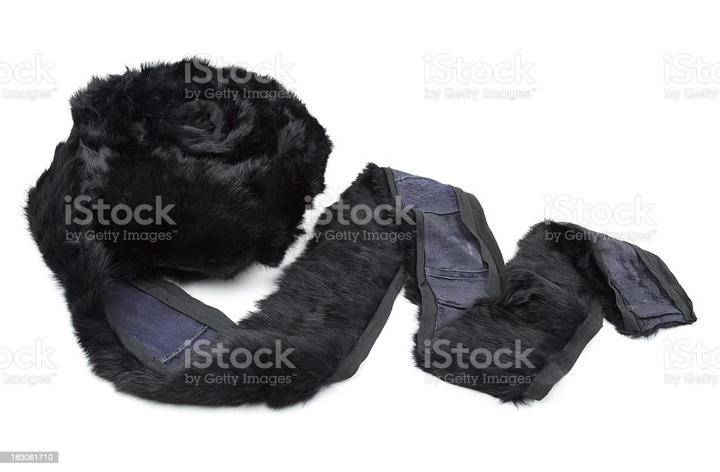 Real Fur Trim royalty-free stock photo