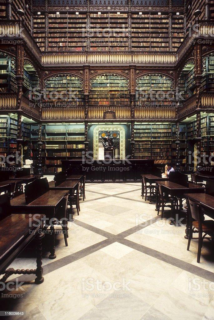 Real Gabinete Portugues de Leitura royalty-free stock photo