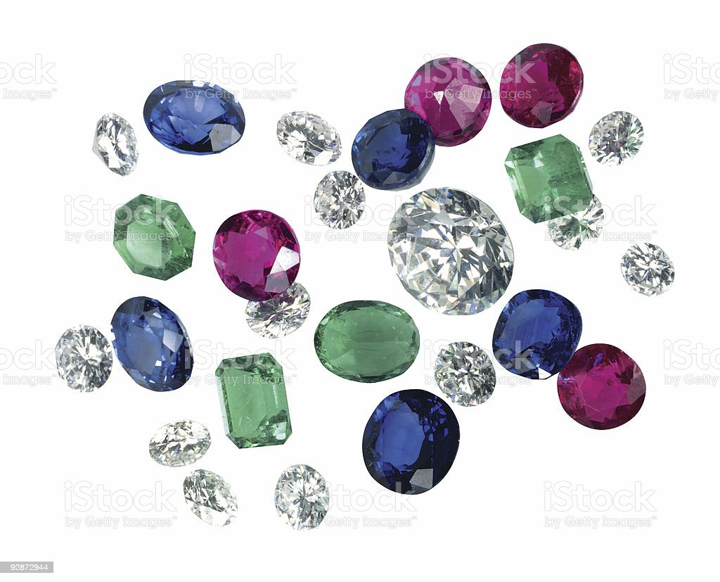 Real gem collection royalty-free stock photo