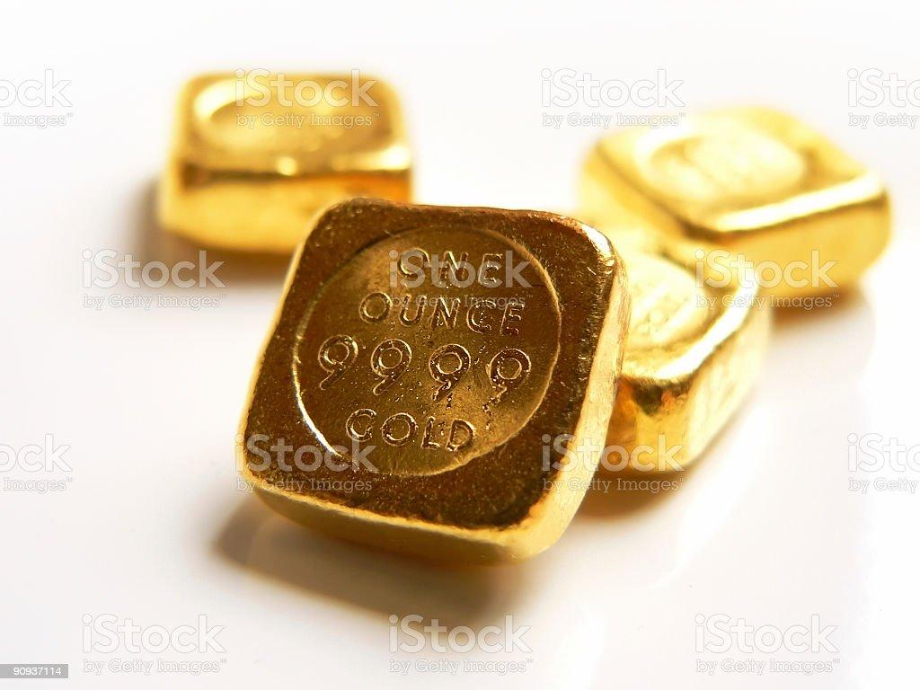 Real Gold Bullion stock photo