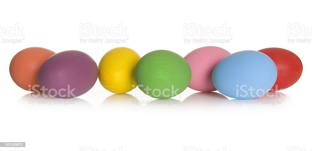 Real hand colored Easter eggs royalty-free stock photo