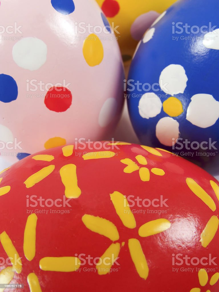 Real hand painted Easter eggs royalty-free stock photo