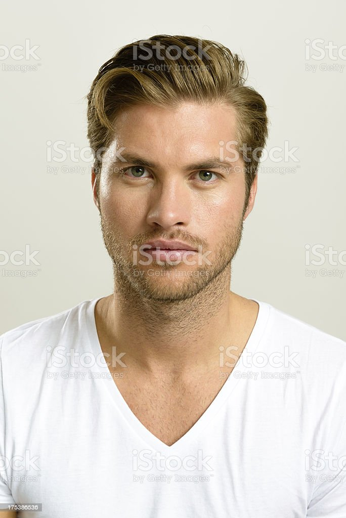 Real Handsome Man - Portrait royalty-free stock photo