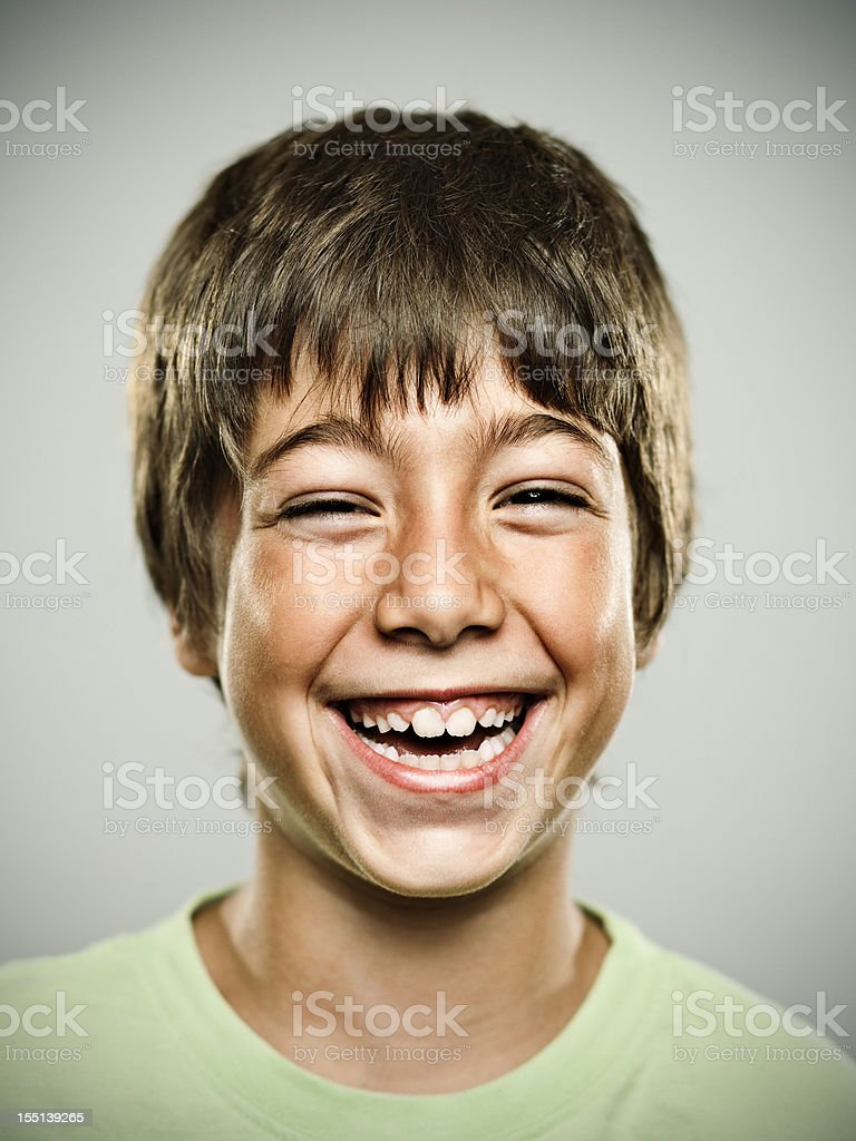 Real happy kid stock photo