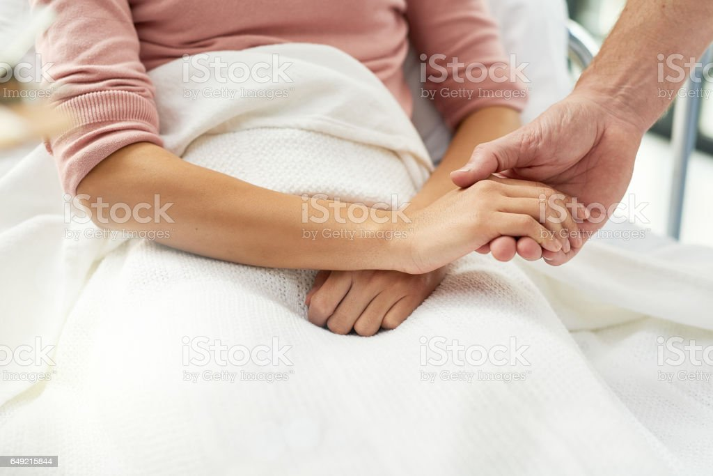 Real healthcare is all about supporting the patient stock photo