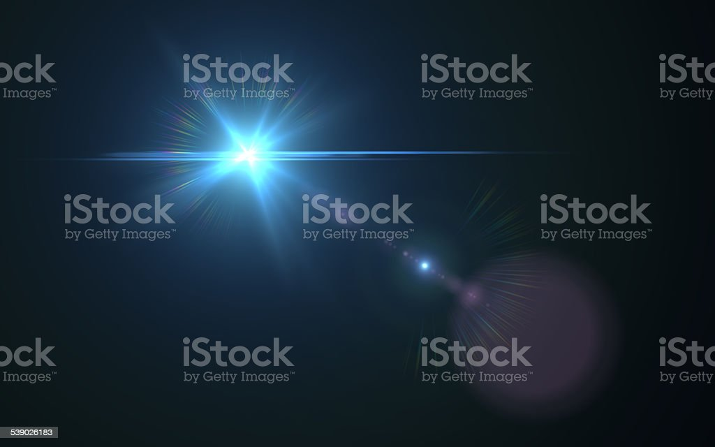 Real Lens Flare Efftect - HD image stock photo