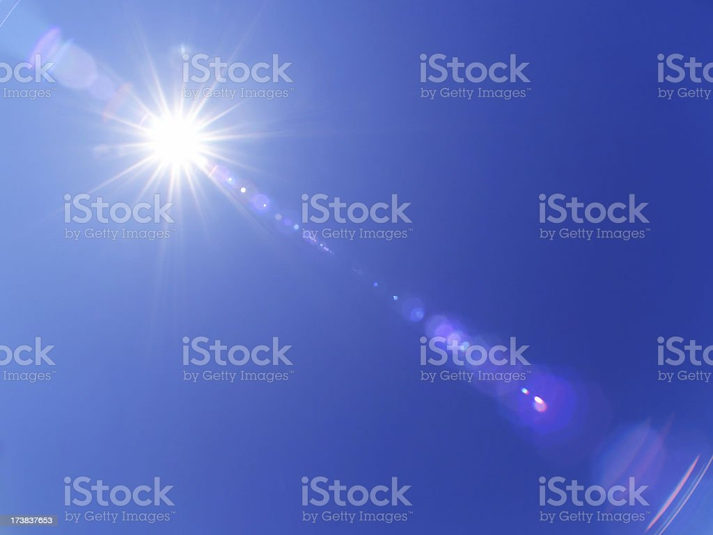 Real lensflare royalty-free stock photo