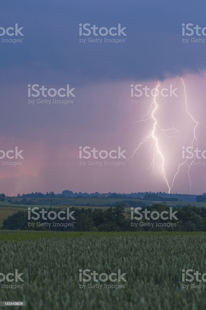 Real Lightning (Echte Blitze) royalty-free stock photo