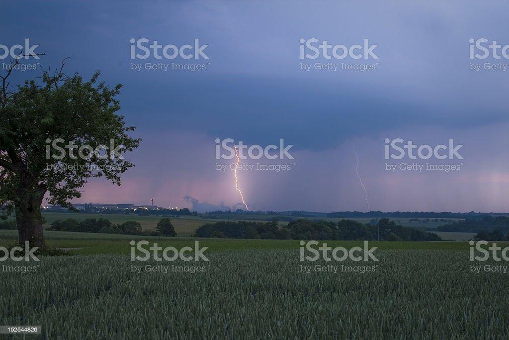 Real Lightning (Echte Blitze) royalty-free stock photo