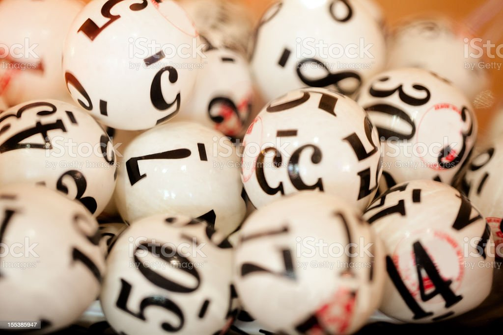 Real Lottery Gravity Balls stock photo