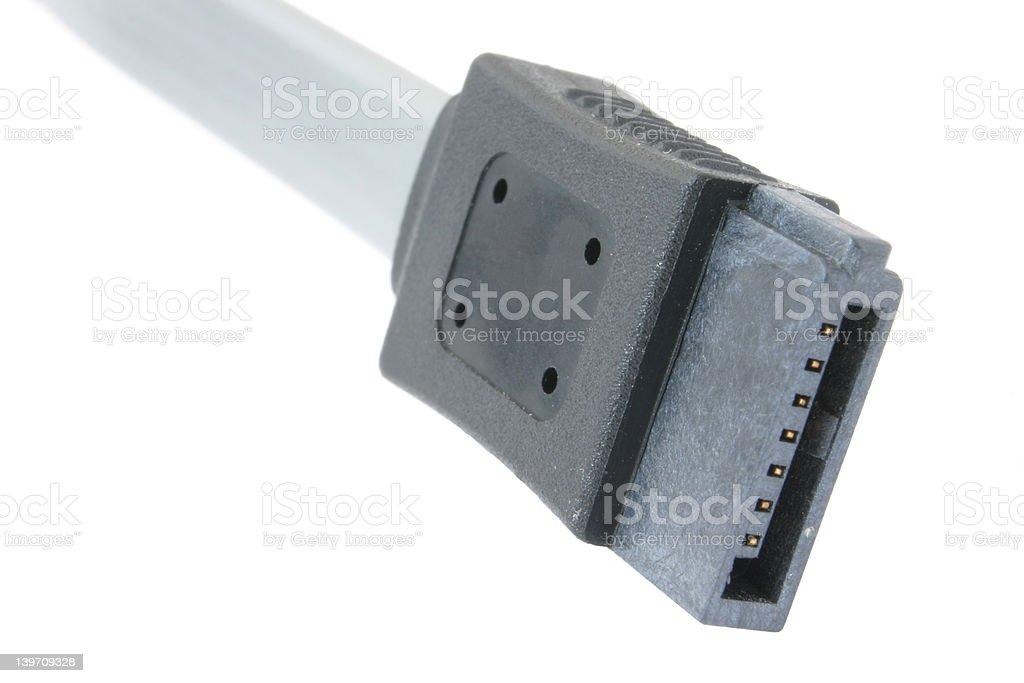 real macro of serial ata plug #2 royalty-free stock photo