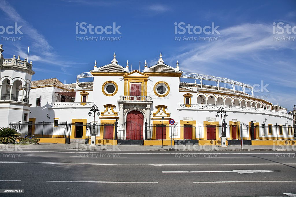 Real Maestranza Caballeria de Sevilla, in Seville, Spain royalty-free stock photo