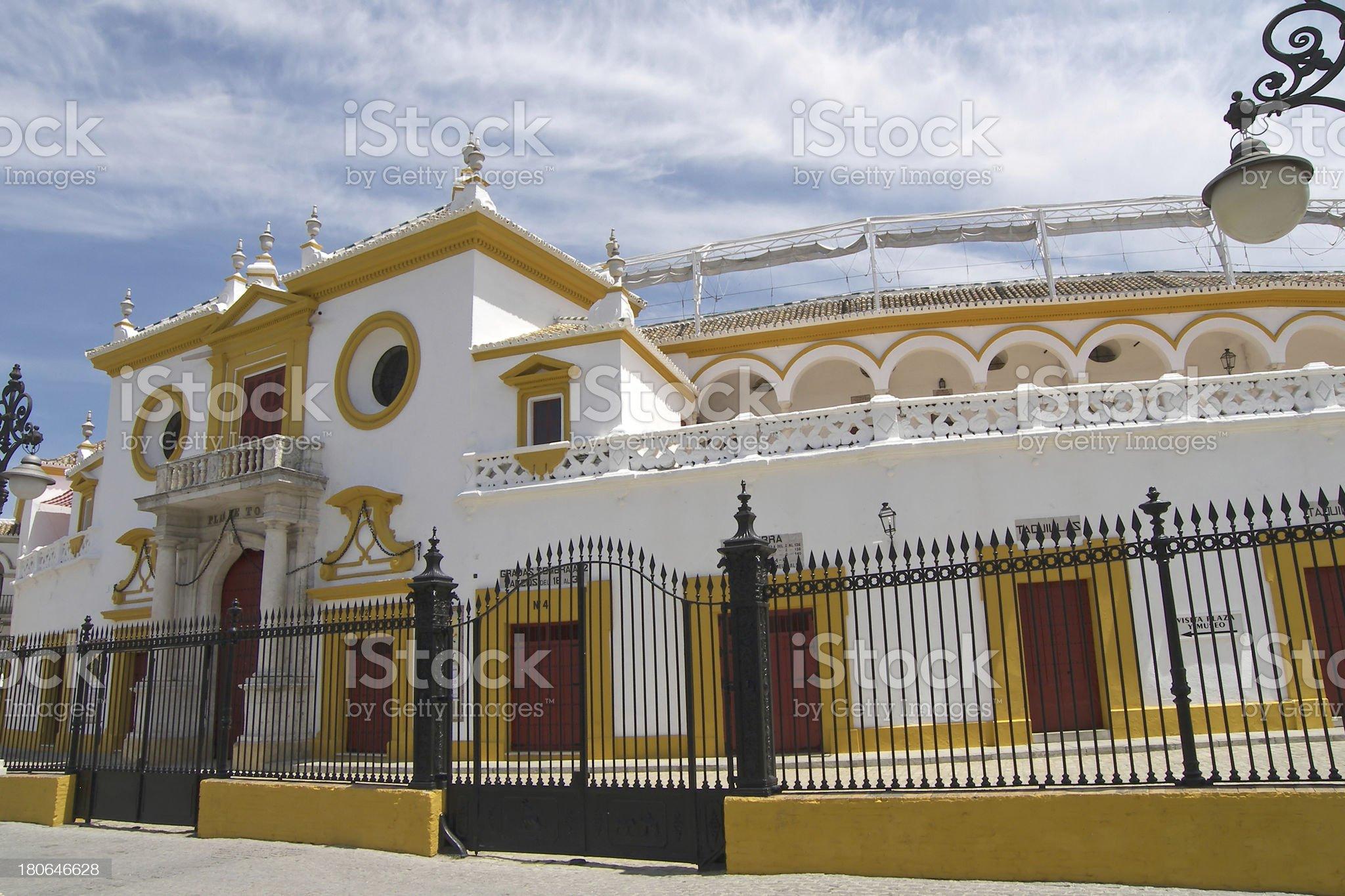 Real Maestranza de Caballeria in Seville, Spain royalty-free stock photo