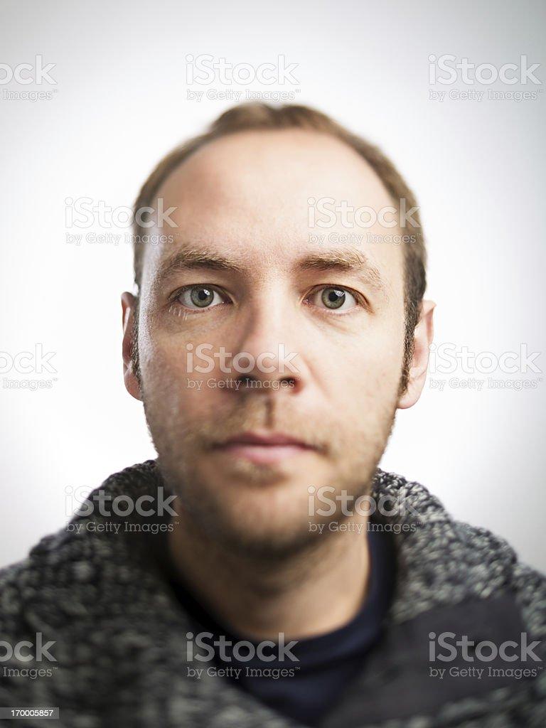 Real man stock photo