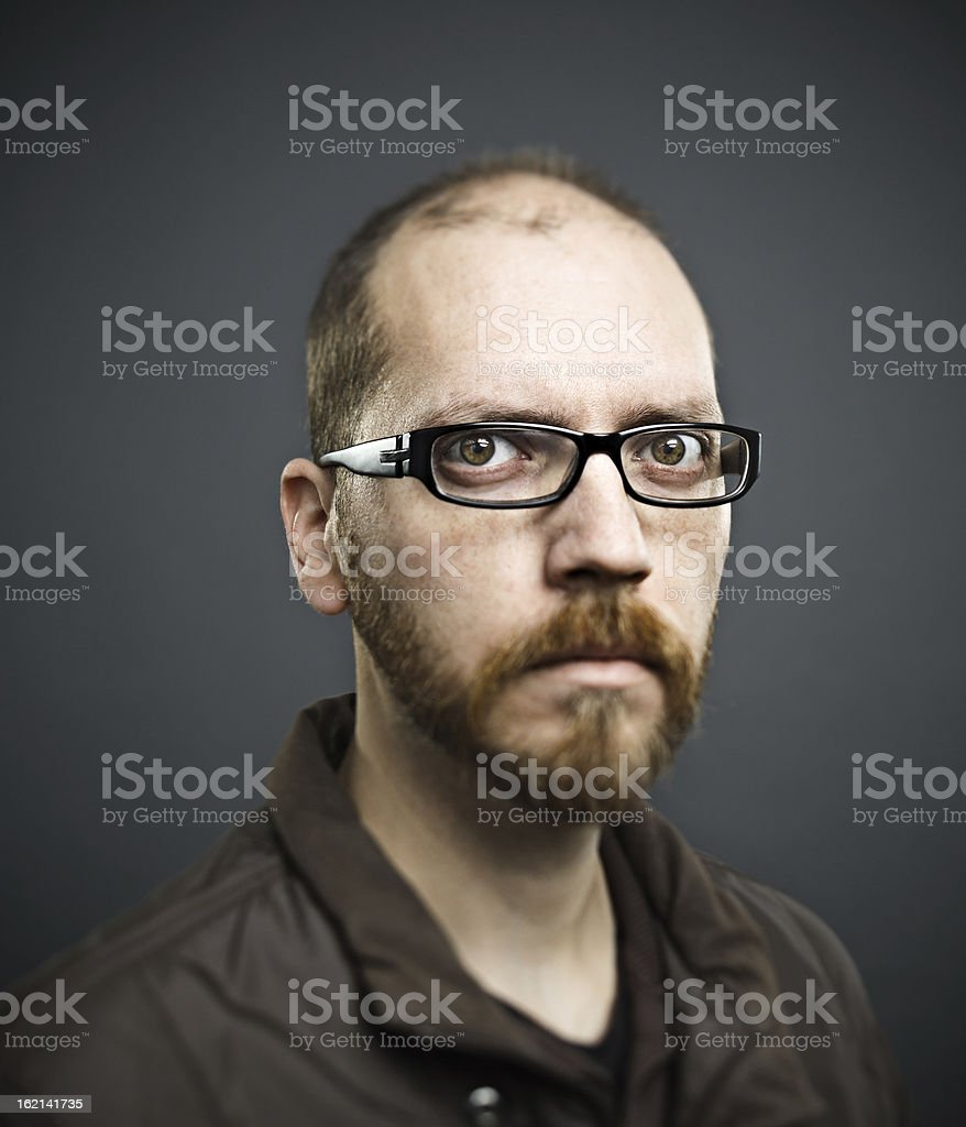 Real man portrait stock photo