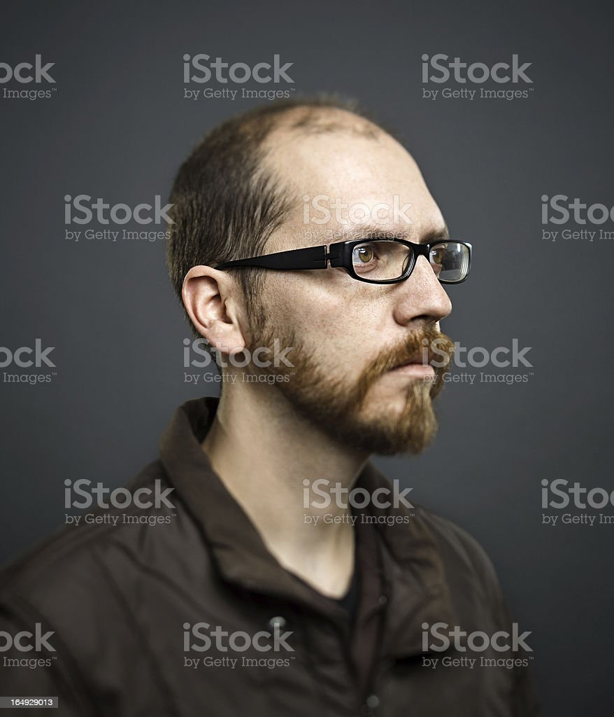 Real man portrait royalty-free stock photo