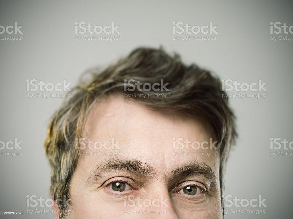 Real man portrait stock photo
