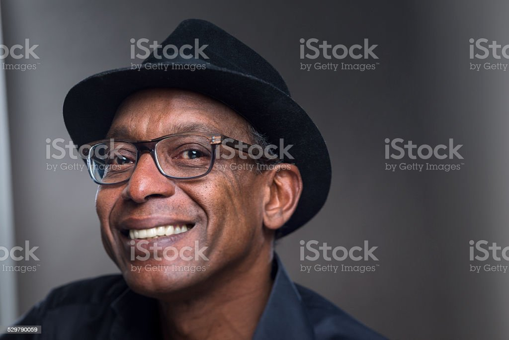 Real  Man with cheerfull  Expression stock photo