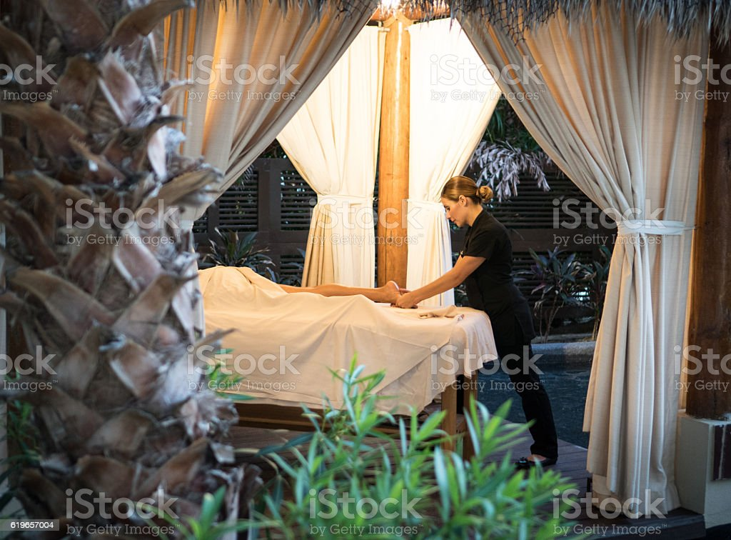 Real Massage - Professional in Cabana stock photo