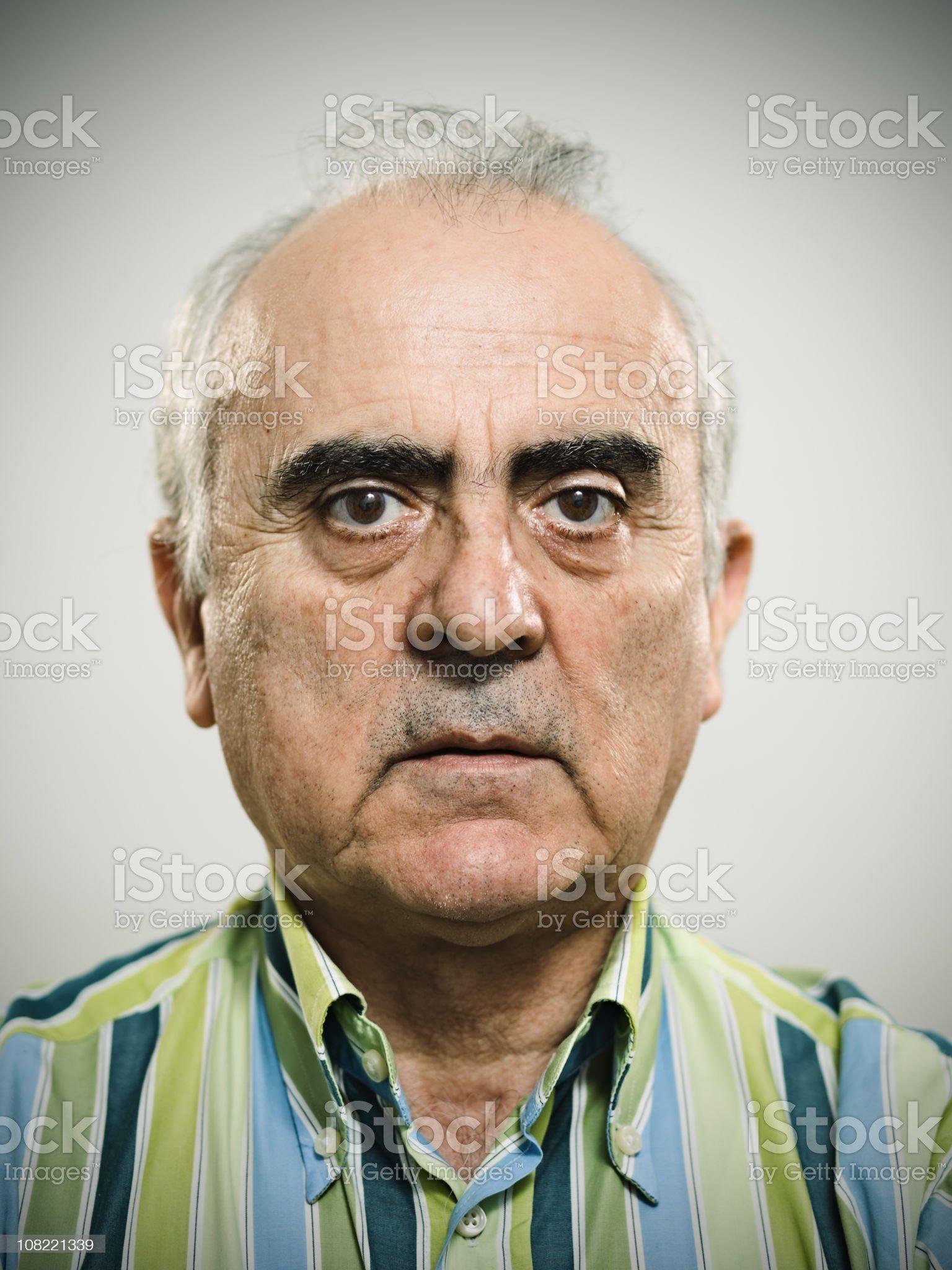 Real mature man royalty-free stock photo