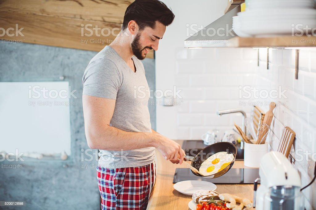 Real men cook! stock photo