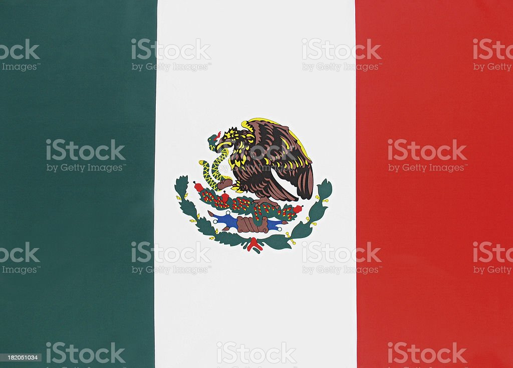 Real Mexico Flag royalty-free stock photo