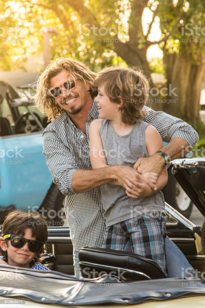 Real moments with a real family stock photo