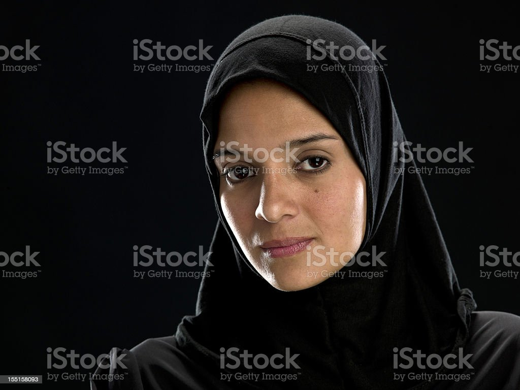 Real Muslim Young Woman stock photo