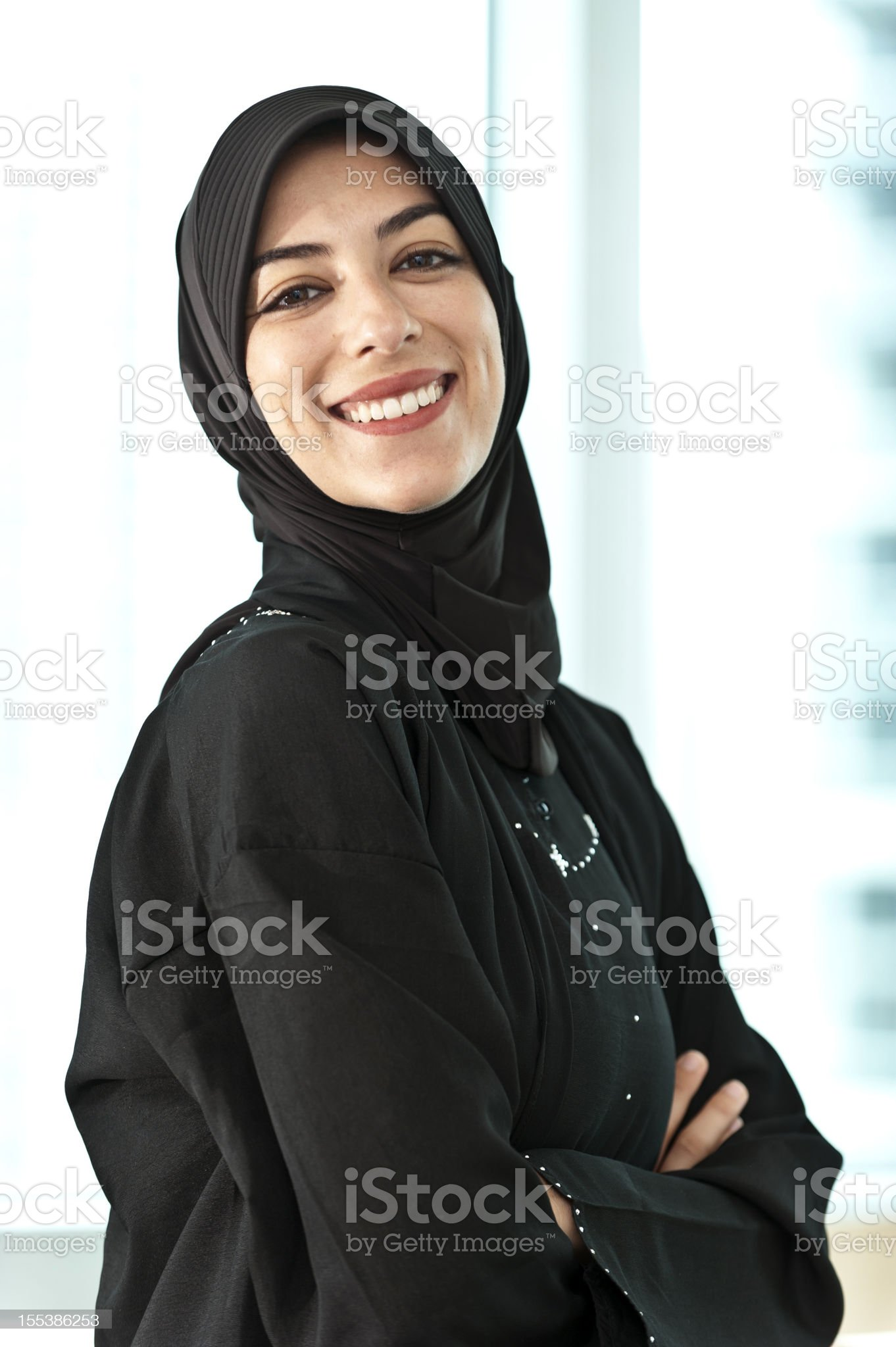 Real Muslim Young Woman royalty-free stock photo