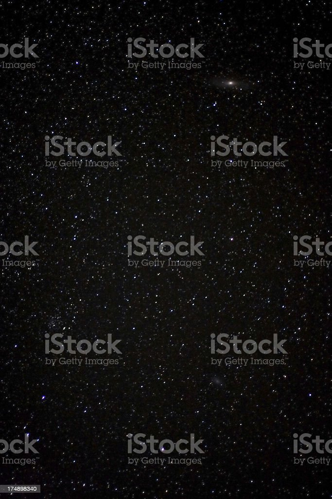 Real night sky stock photo