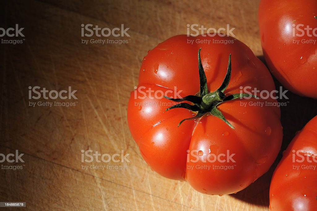 Real Organic Beefsteak Tomatoes royalty-free stock photo
