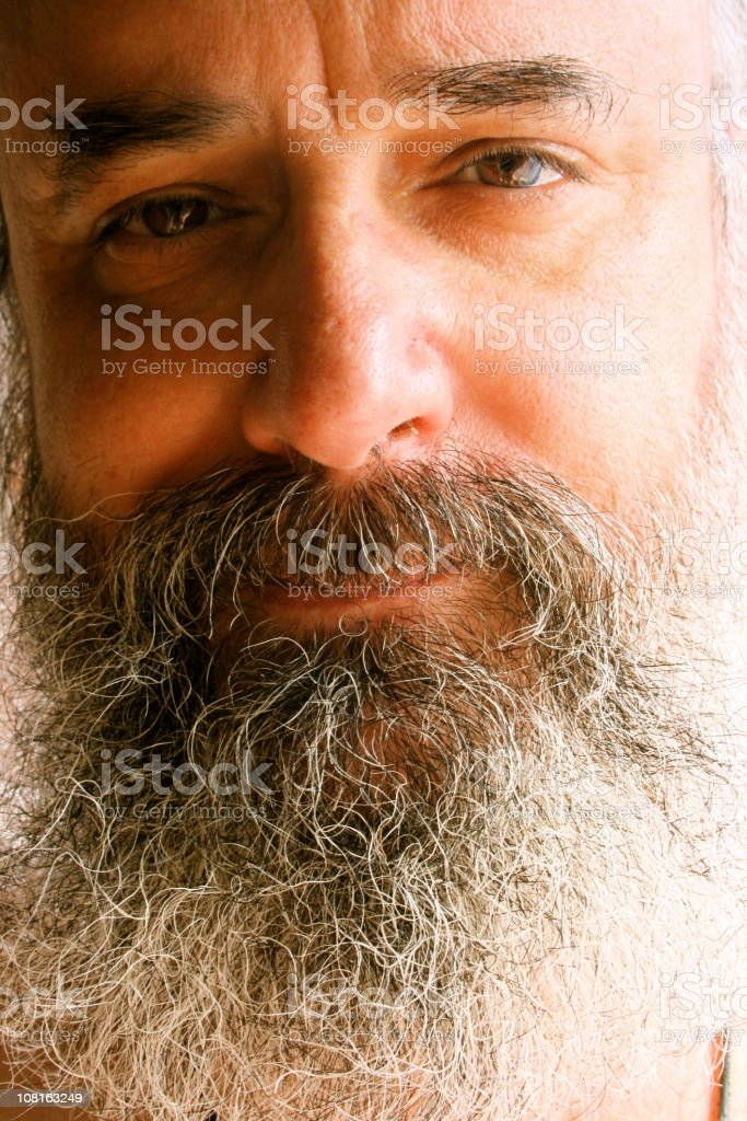 Real people: Bearded mature man stock photo