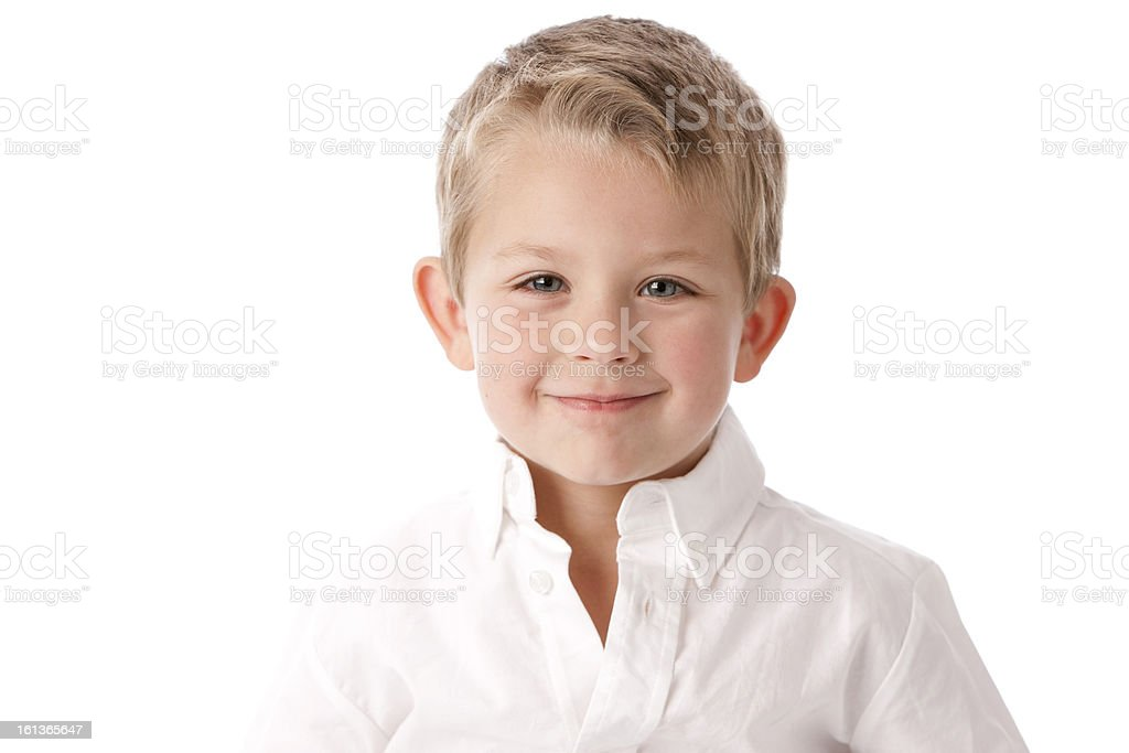 Real People: Head Shoulders Caucasian Little Boy Smiling royalty-free stock photo